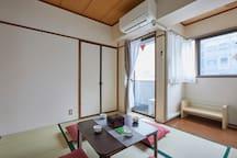 Japanese room 和室榻榻米房间