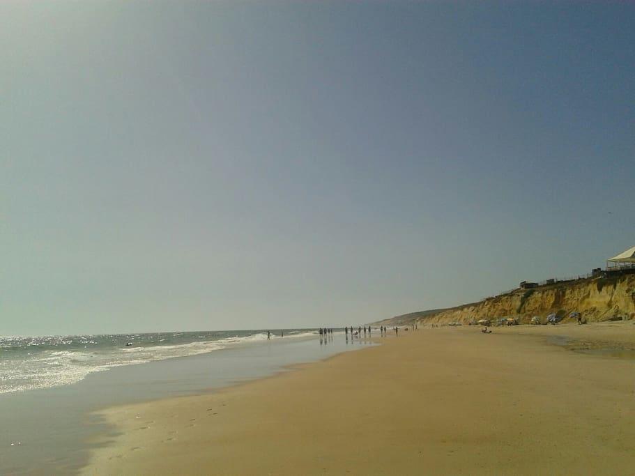 La playa más de 30 km.