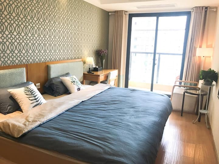【2.4米超级大床 随意翻滚】近屯溪老街 黎阳印象 整套独立公寓,隐私性强