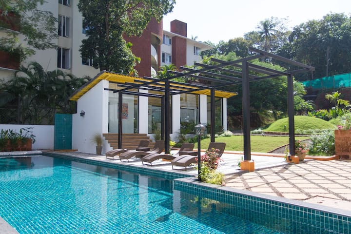 casa tranquil a cozy 1 bedroom appartment - North Goa - Byt