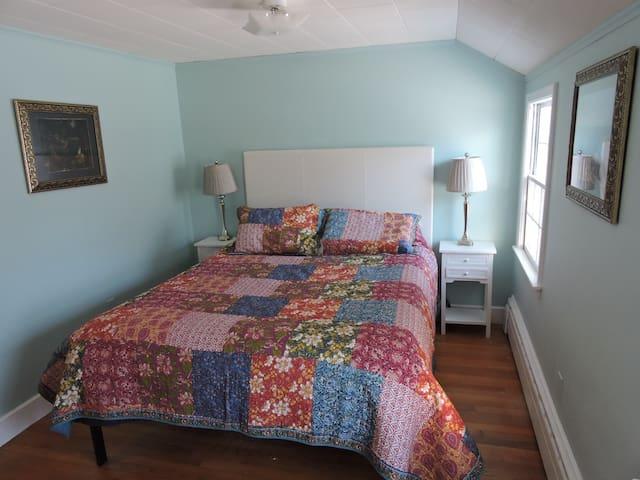 Blue Queen bedroom