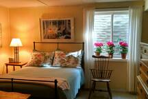 LL Guest Suite bedroom area with sunny egress window.