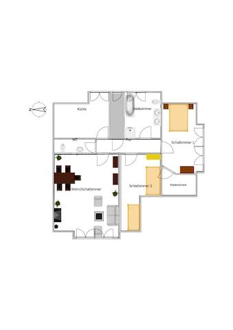 großzügige FeWo in ruhiger und zentraler Lage - Bremerhaven - Apartament