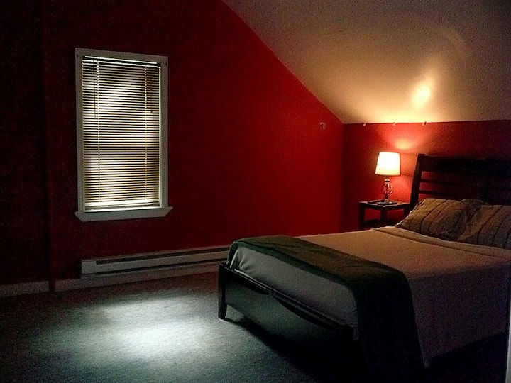 The Red room in the house with the Red doors.