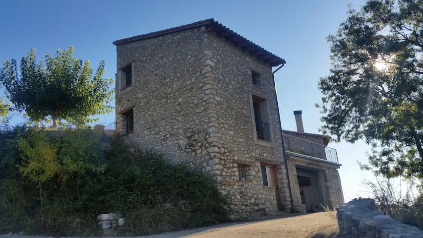 Beautiful stone cottage in the pre-Pyrenean area