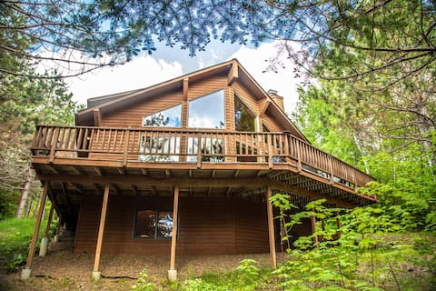 Clearwater Castle is a spacious vacation rental home on the shores of Clearwater Lake