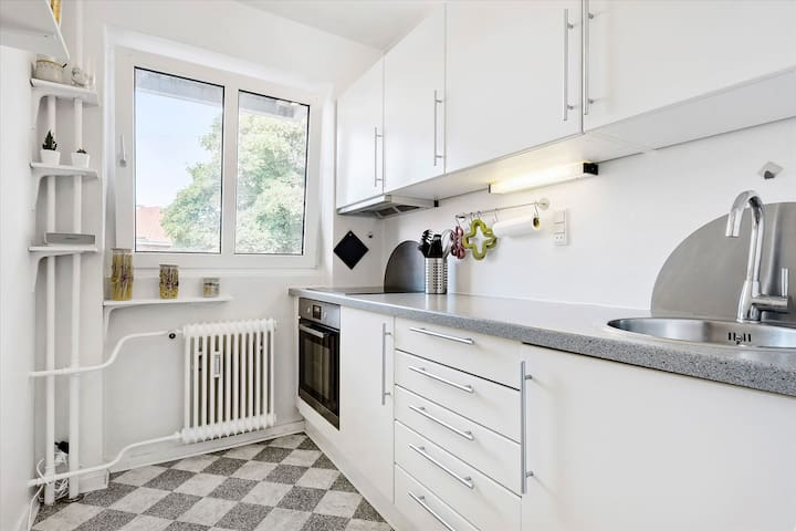 Cozy place in City Centre - 2 rooms w. big balcony