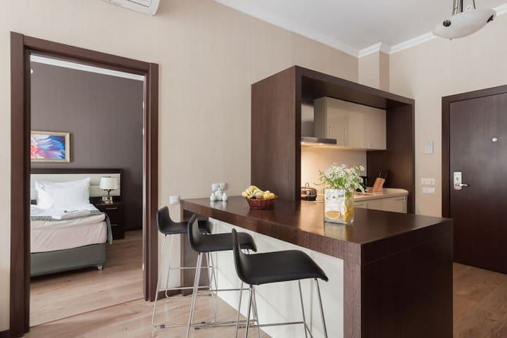 Апартаменты у горы(канатка до 960м бесплатно)