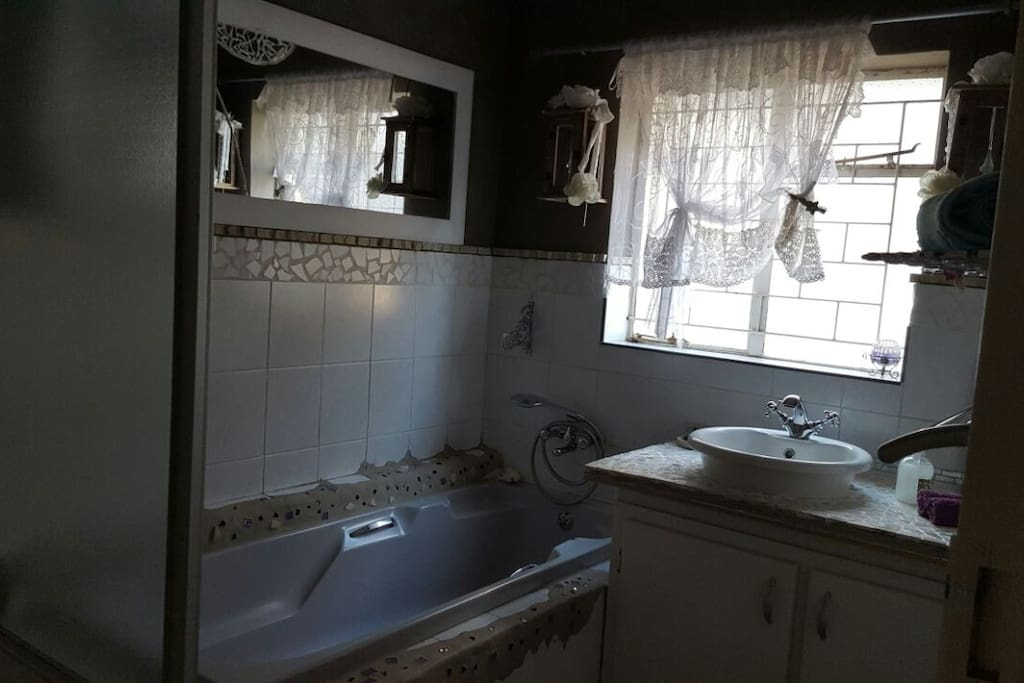 Bathroom wit shower in Family unit. Separate toilet.