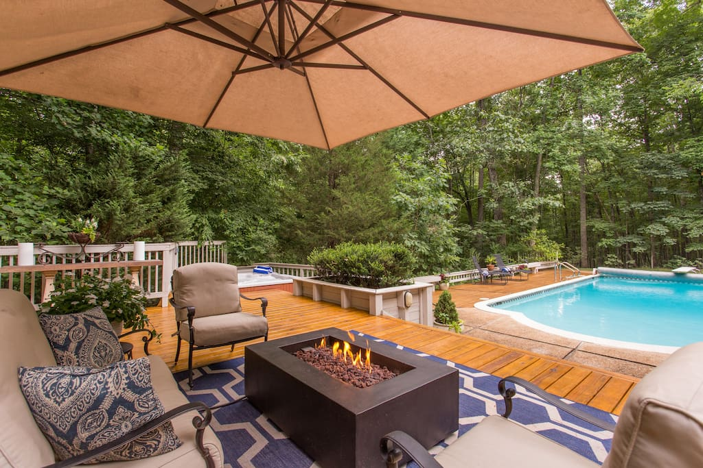 Outdoor patio, grill and pool for your enjoyment!