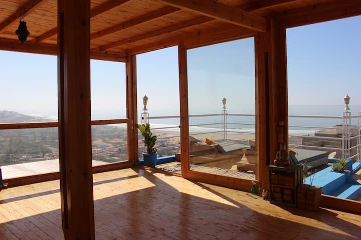Villa bien équipé avec vue de mer & équipage