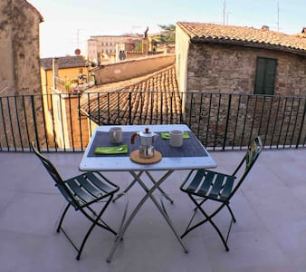 Todi App.t x 4 with splendid panoramic terrace