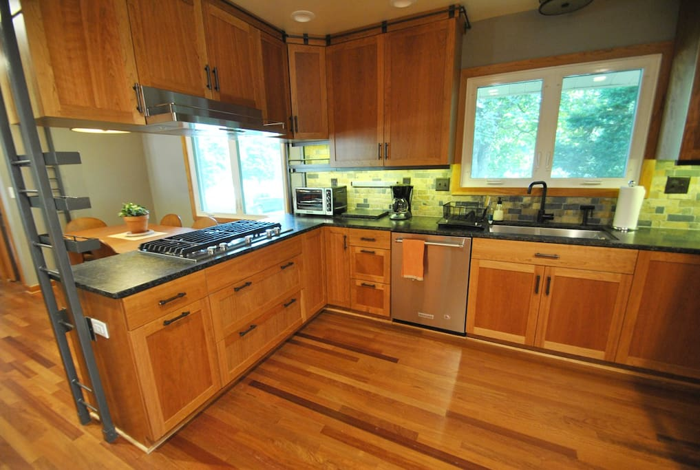 Newly remodeled open concept kitchen