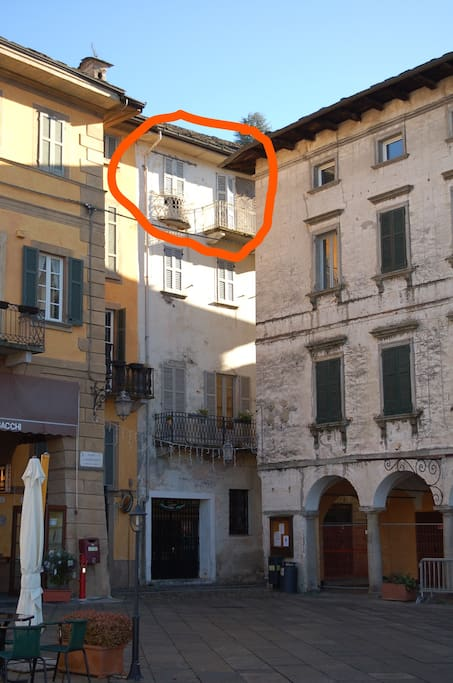 the flat is on the 2nd floor without elevator (circled in red on this picture) and it has 2 floors with internal stairs .