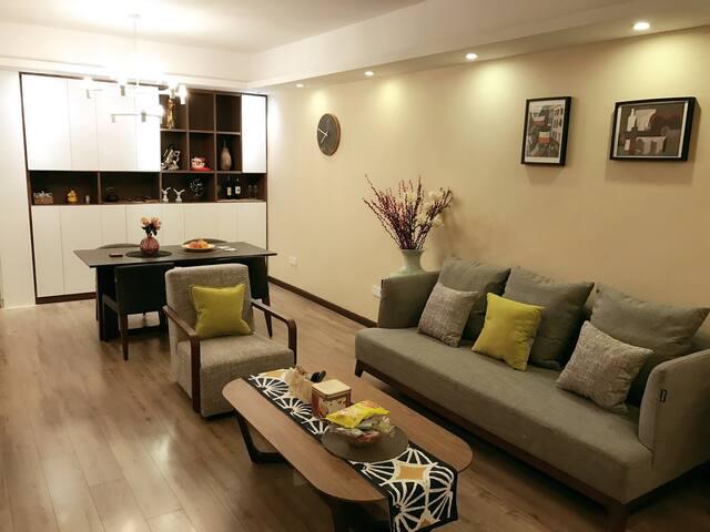 Blossom HAY家具风格大3房 近汉口火车站、天河机场,适合商旅 - 武汉 - Appartamento