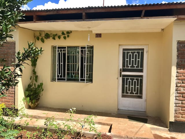 Private entrance with locking doors and windows