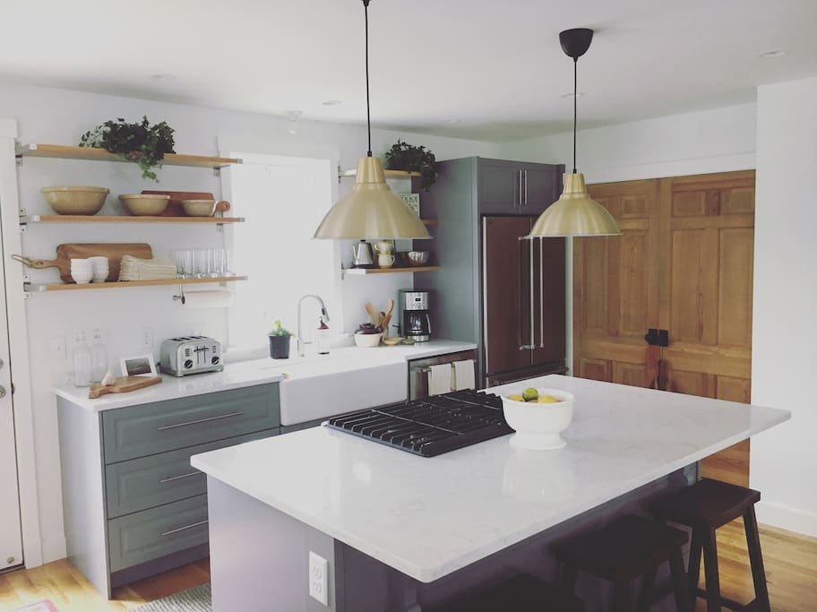 Open kitchen for ultimate cooking!
