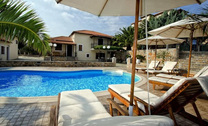 Villa Rodothea with shared pool