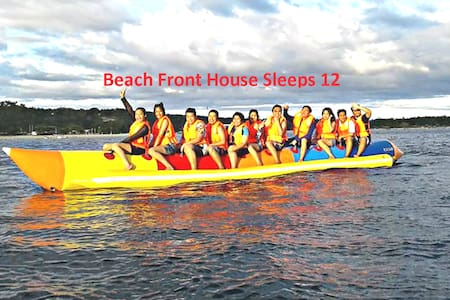 Beach Front House Sleeps 12 White Sand Hugom Laiya