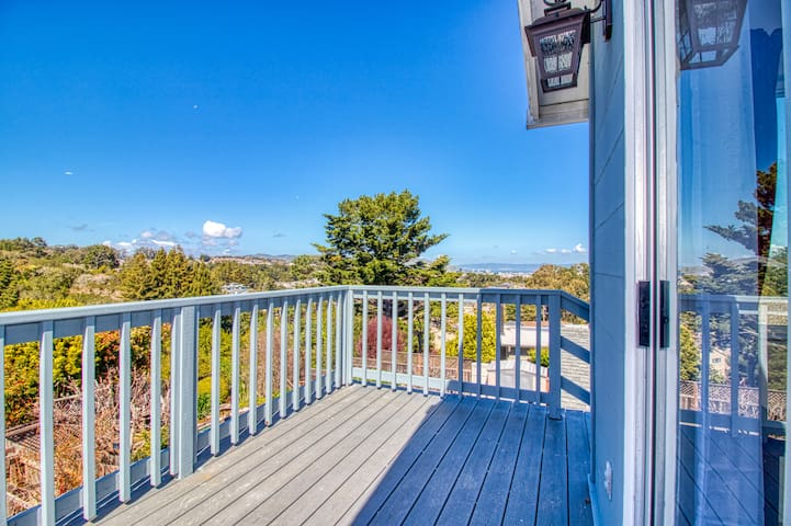 Large, sunny deck gives you amazing views of the San Francisco Bay and surrounding hills