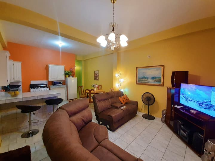 Cosy 2 bedroom apartment 10 minutes from Airport