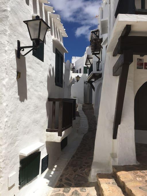 Pintorescas calles peatonales
