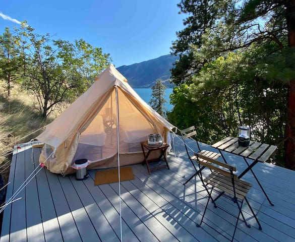 Chelan Waterfront Off-Grid Tent #2. 18+, 4WD Req.