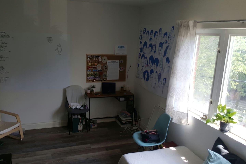 Large bright room in apartment
