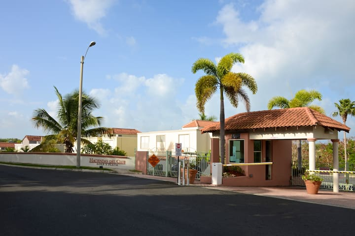 Villa located in gated community, security guard's station