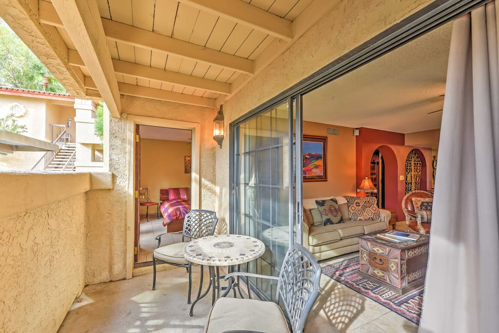 This property features 2 patios, perfect for letting the warm desert breeze travel through living spaces.