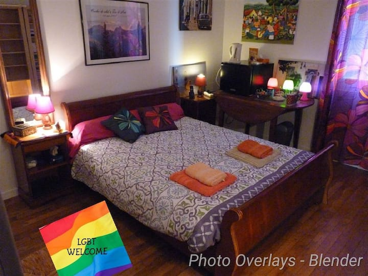 Cosy room in flat 56m2 15mn from Futuroscope