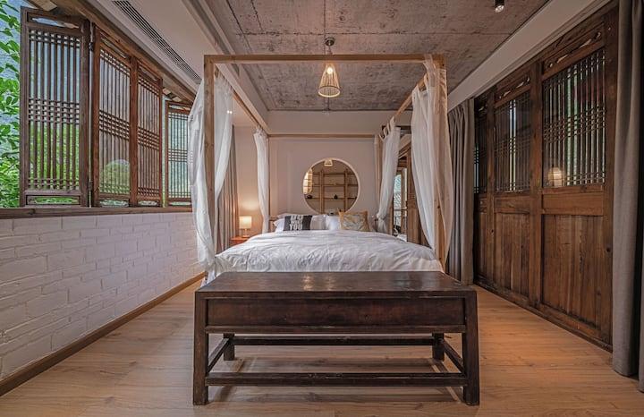 黛舍浪漫茶室露台浴缸花园套房