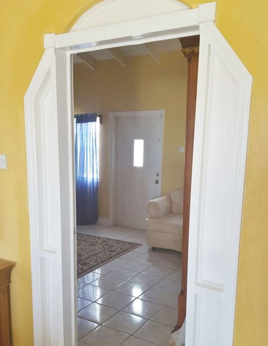 Bedroom 1 is very bright with large windows for more sunshine.
