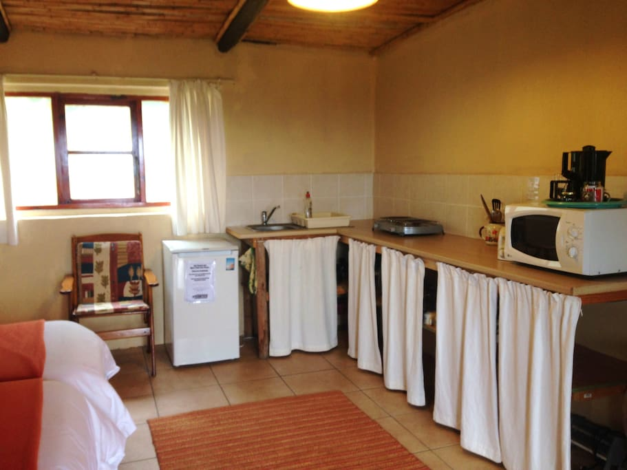 Kitchen facilities in the unit
