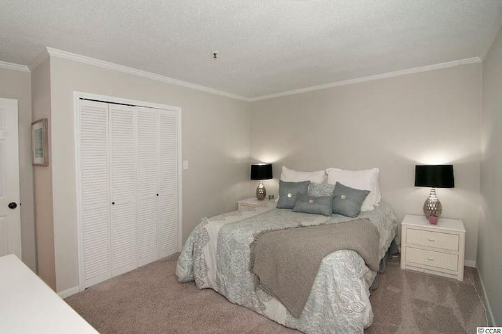 Master bedroom now has a king sized bed, just need a picture of it to replace this one