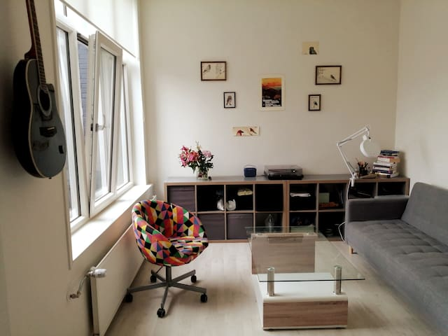 Spacious and cozy studio at the Noorderplatsoen