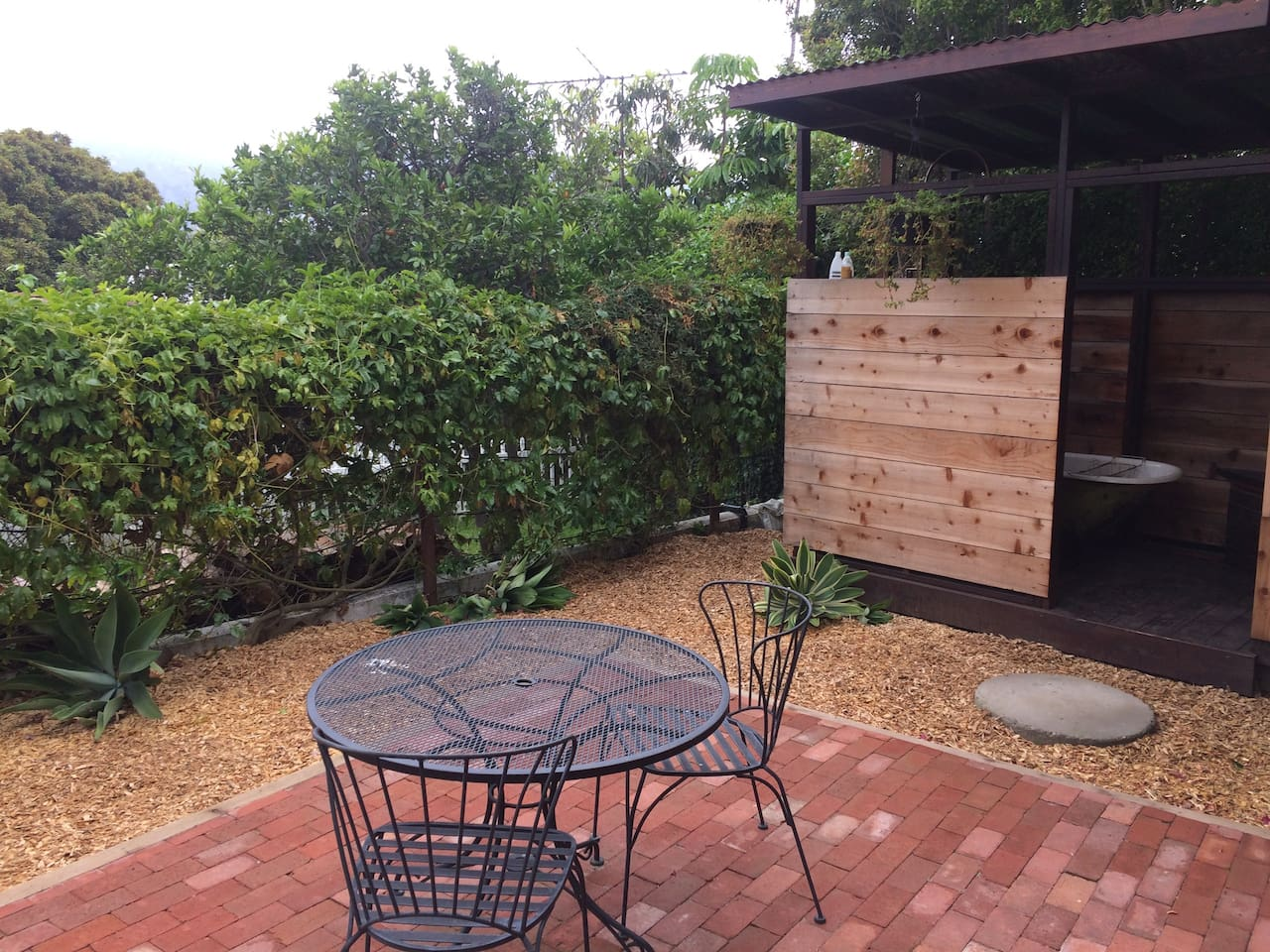 Your own private patio to enjoy an early morning, lazy afternoon, or lingering evening