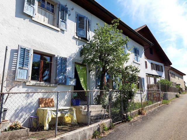 La maison au volet bleu