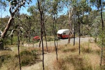 The view of the camping site from the track to the thunderbox