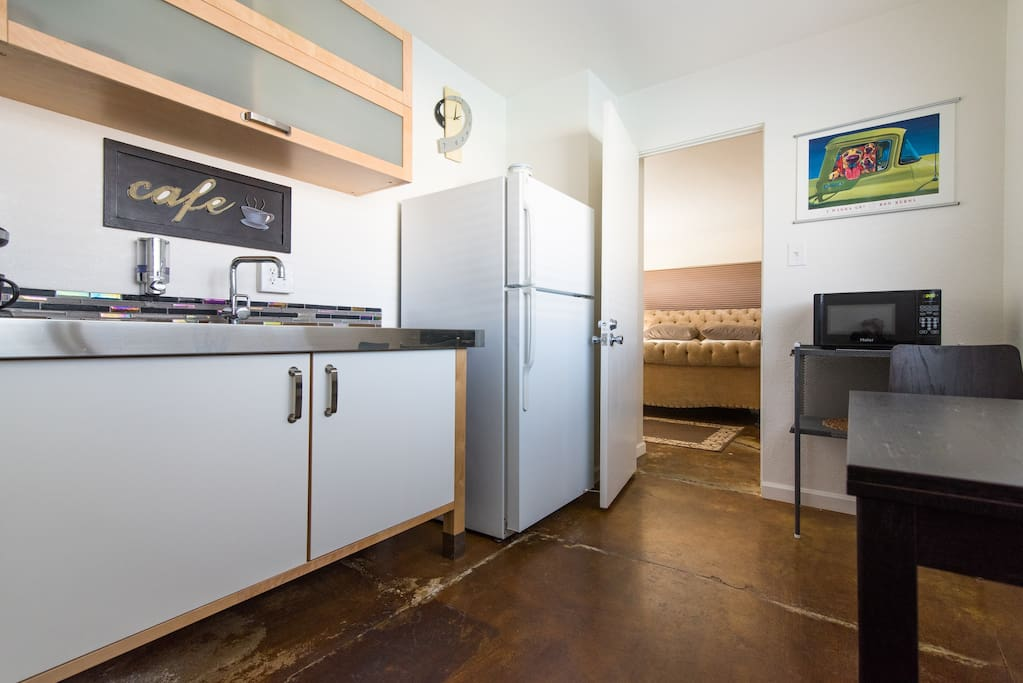 The Cafe Kitchen connects the two bedrooms.