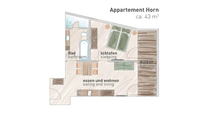 Sonnental   Apartment Horn 43m²