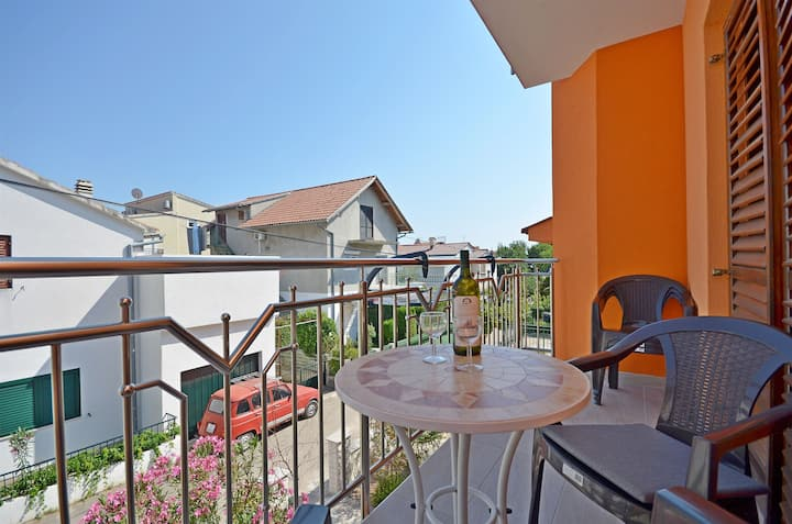 Two Bedroom Apartment, in Vodice, Balcony