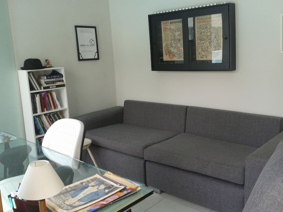 Private room and sleeping sofa (2 meters lenght)
