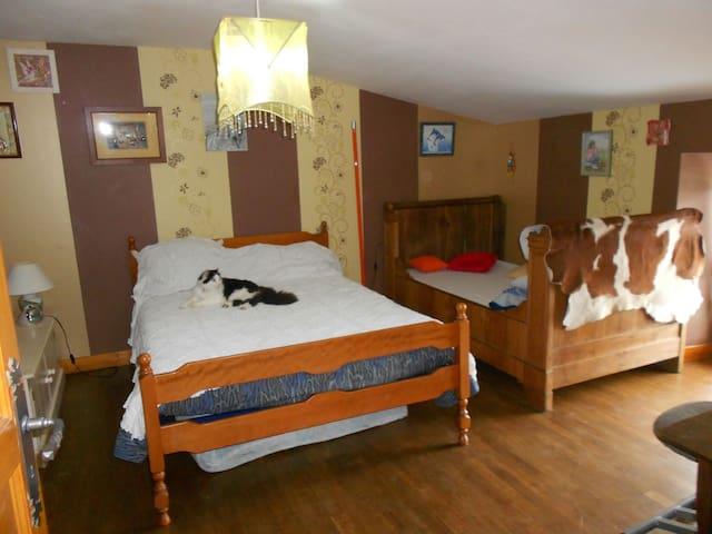 Chambre très calme possibilité 3 personnes