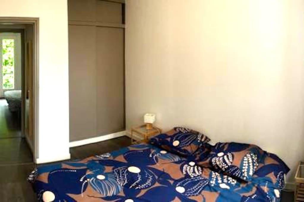 chambre double ou lits simples avec placard aménagé