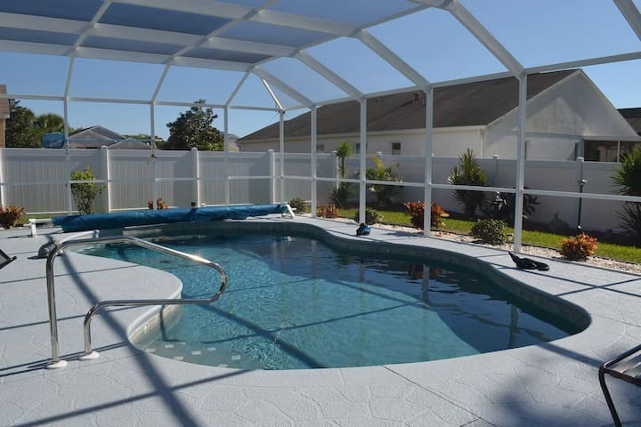 We have a beautiful Swimming pool, good for a swim or to hang out with the family and friends