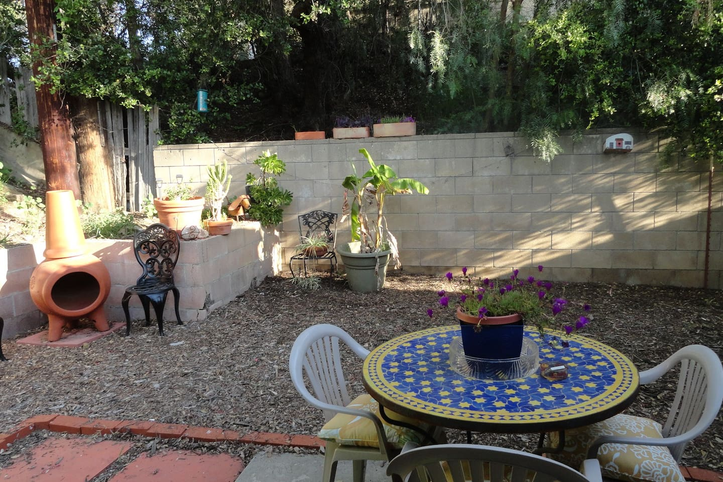 Private yard & Patio off room #1