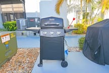 "Ok, another BONUS.  We have a GRILL.  Put your ""grill master"" to work so you don't have to slave over a hot oven.  Maybe it's the fresh catch you got today?"