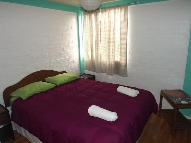 Habitación doble con baño en suite - Valparaíso - Departamento