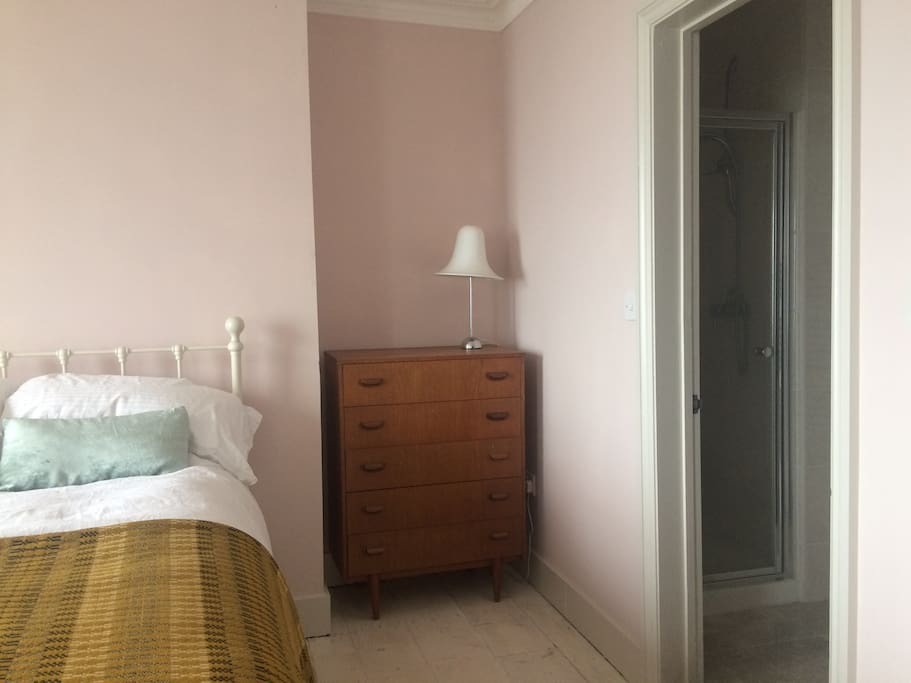 Sea view double bedroom with ensuite